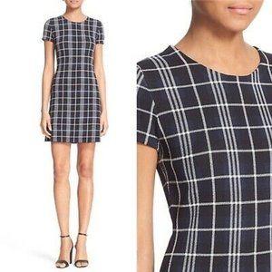 Theory Branteen JP Navy&White Plaid Dress   Size S